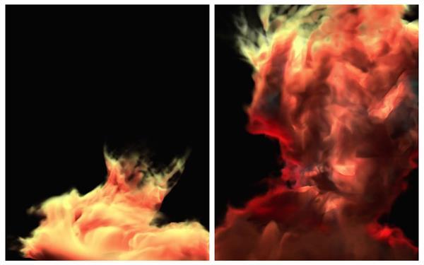 震撼动感大气烟雾视觉效果螺旋旋转上升舞台屏幕背景视频素材