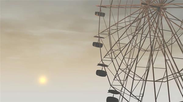 缤纷童趣梦境摩天轮旋转静态视觉结果屏幕LED配景视频素材