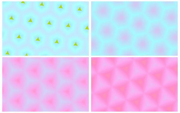 动感缤纷颜色万花筒不规矩图形静态视觉结果屏幕LED配景视频素材