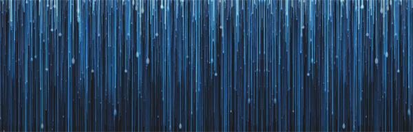 蓝色粒子线条光效瀑布雨滴落下景象视觉效果屏幕LED背景视频素材