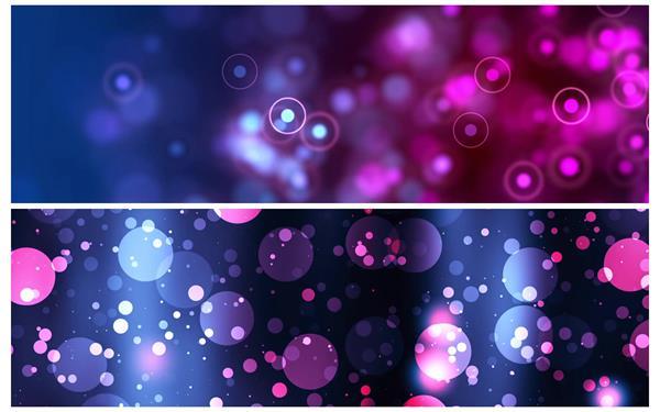 2款绚丽光效圆形粒子游离漂浮梦幻场景LED舞台背景视频素材
