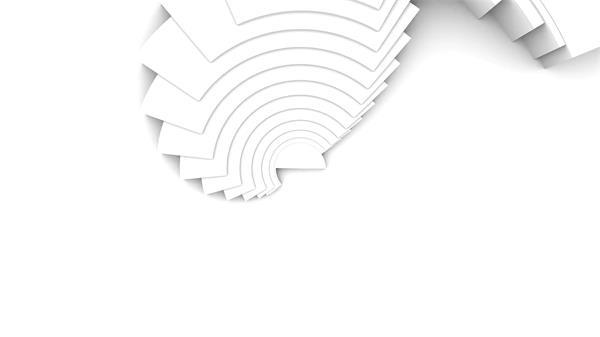 创意兴趣圆形层叠折纸结果旋变化幻场景过渡殊效配景视频素材