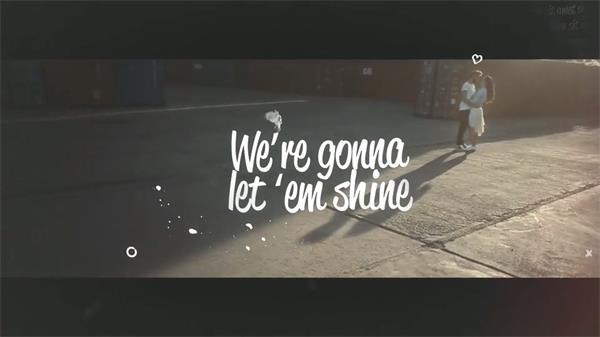 AE模板 浪漫唯美愛情故事記錄動態MV歌詞字幕展示模版 AE素材