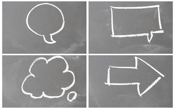 黑板白色粉笔绘画各类简单图案标志人物娱乐教学画画高清视频实拍