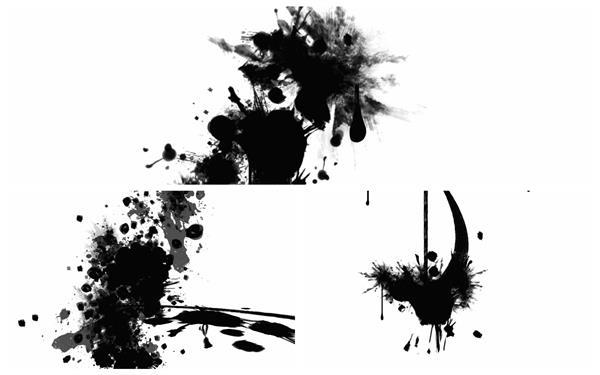 古典文化气息水墨运动场景切换墨水晕染泼洒形态动态背景视频素材
