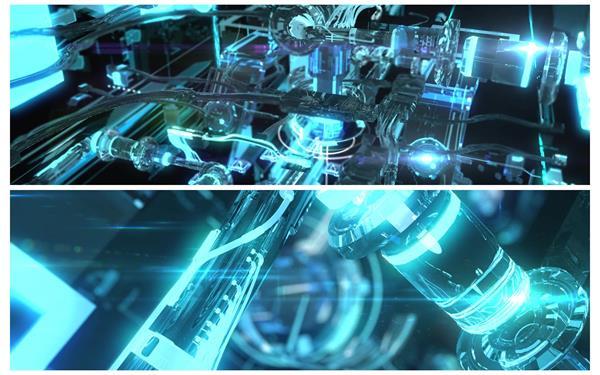 酷炫大气光效科幻机器运作视觉将来智能宣传大屏幕配景视频素材