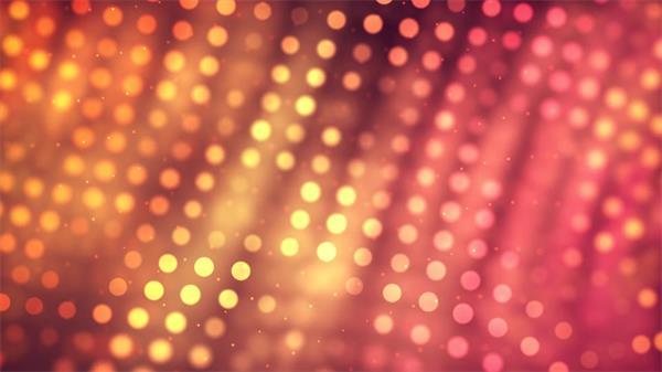 艳丽光效粒子排列布局圆形光点变幻大气场景视觉LED背景视频素材