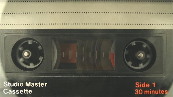 复古怀旧录音机磁带光盘播放器播放磁带音乐磁带运作高清视频实拍