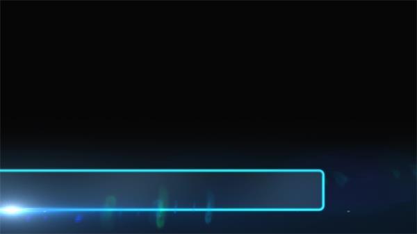 华丽科技视觉光效线性滑动演绎字幕条边框场景片头视频素材