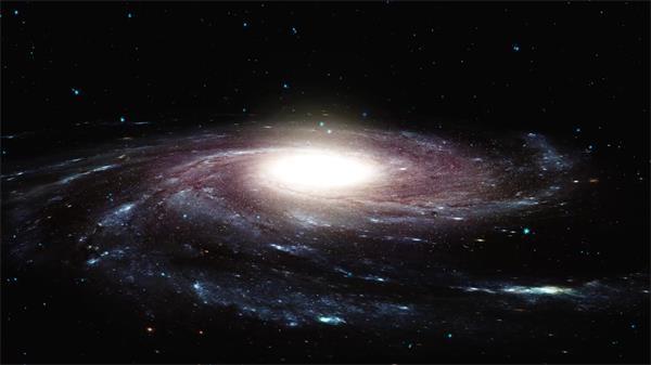 奥秘探究宇宙银河空间旋转光效粒子视觉打击虚幻配景视频素材