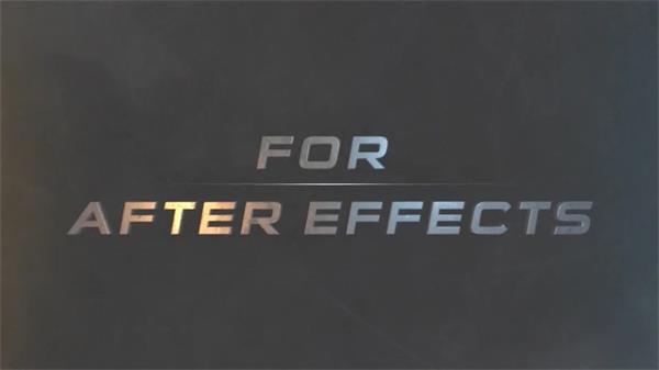 AE模板 疾速震撼大气挪动元素颜色字形转换标题设计表现模版 AE素