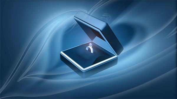 华美高尚钻石戒子盒子闭合展示求婚婚礼场景屏幕配景视频素材