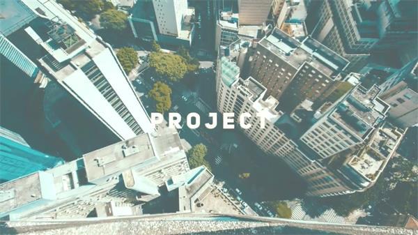 AE模板 动感炫酷快速扭曲滤镜视觉差城市动态幻灯片展示模版 AE素