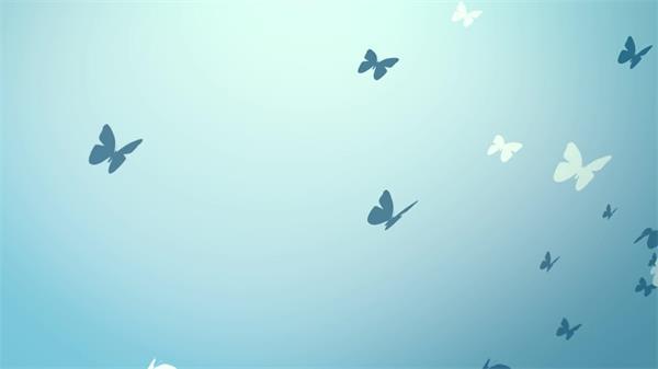 清新童话场景折纸蝴蝶群飞舞唯美视觉舞台LED背景视频素材