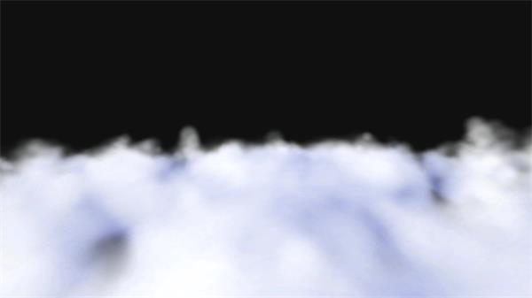 抽象3D雪白云层唯美视觉冲击渲染烟雾云端效果动画背景视频素材
