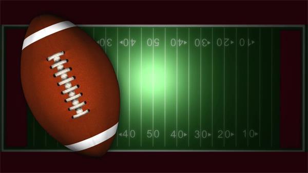 美式橄榄球旋转运动场球场移动?#28909;?#23459;传预告背景视频素材