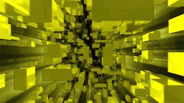 虚拟抽象空间方块密集运动隧道飞行LED屏幕视觉冲击视频素材