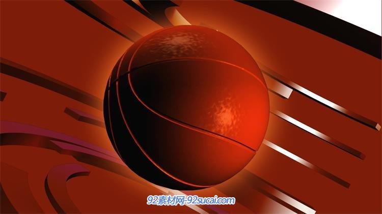 动感科技篮球运动球旋转新闻栏目包装背景宣传预告视频素材