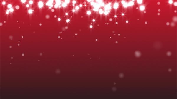 红色背景散落白色闪光粒子飘浮波动形状场景感染视觉效果背景视频