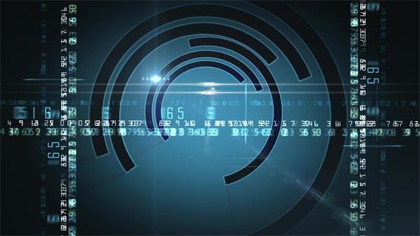 科技大数据传输跳动弧形旋变化化视觉结果静态配景视频素材