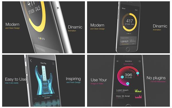 AE模板 现代科技智能化手机app应用程序渲染推广宣传片模版 AE素
