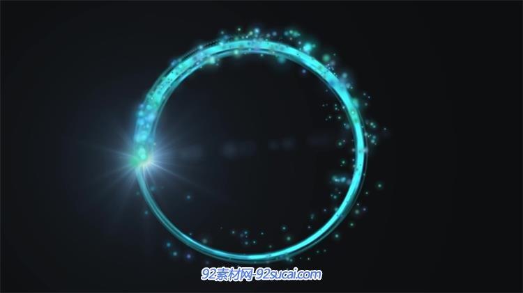 炫酷光效线性圆形旋转粒子漂浮场景舞台装饰led背景视频素材