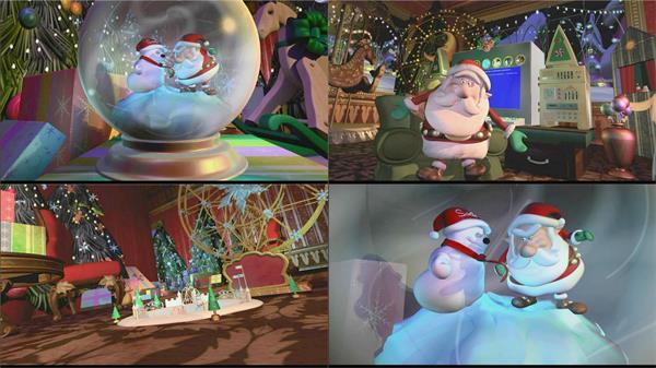 《圣诞快乐3D动画》Santa vs.the Snowman3D新年圣诞节高清视频素