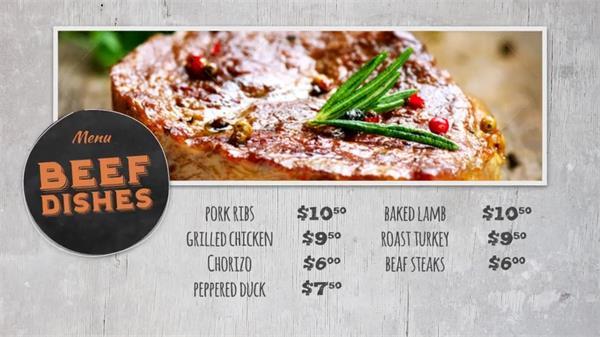AE模板 复古滤镜色彩搭配归纳美食餐厅菜单促销运动宣传片模版 AE