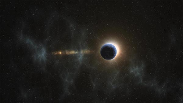 浩瀚宇宙空间地球旋转多镜头视觉展现地球姿态科幻动画视频素材