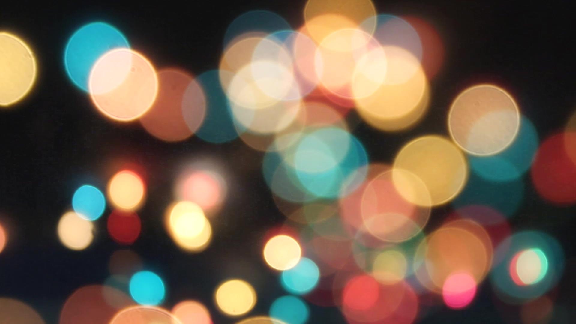 唯美朦胧光效缤纷圆圈层叠闪烁变幻屏幕动态背景视频素材
