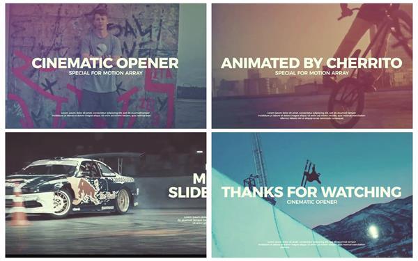AE模板 超现代优雅电影效果切换过渡运动系列宣传片模板 AE素材