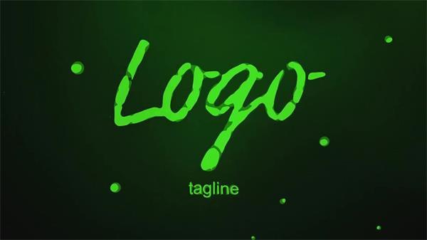 AE模板 酷炫大气彩色水液体效果粒子演绎企业LOGO标志模板 AE素材