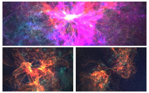 [4K]3款壮丽邪术星云宇宙星空笼统光效活动视觉配景视频素材