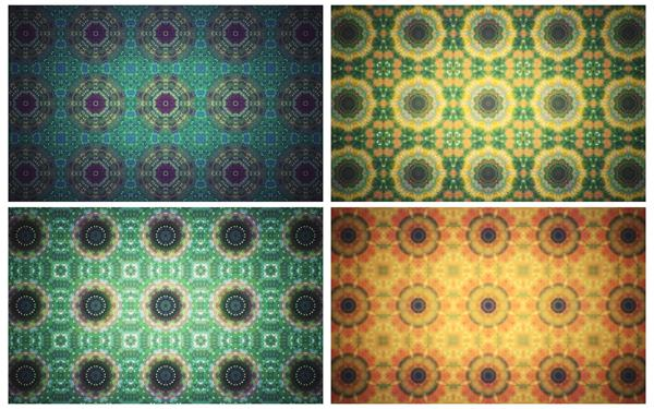 [4K]抽象绚丽色彩变幻万花筒图形切换渲染视觉屏幕背景视频素材