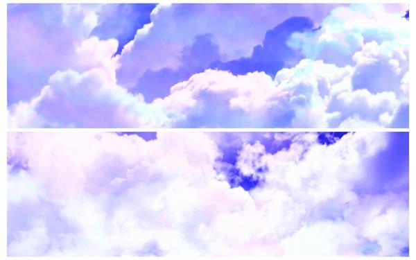 梦幻高空云层飞行穿梭云朵场景画面视觉冲击舞台活动视频素材