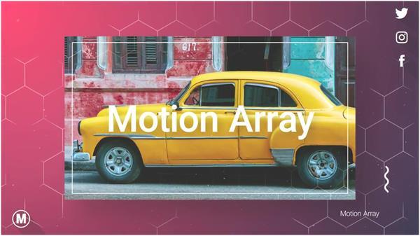 AE模板 大气商务科技线条滑动照片渲染切换图文幻灯片模板 AE素材