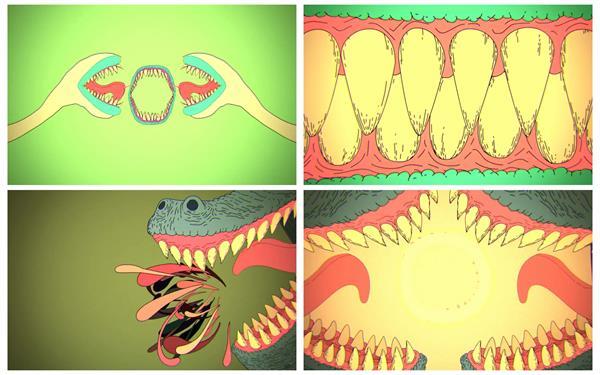 趣味儿童卡通动画片恐龙画面渲染氛围快速过场背景视频素材