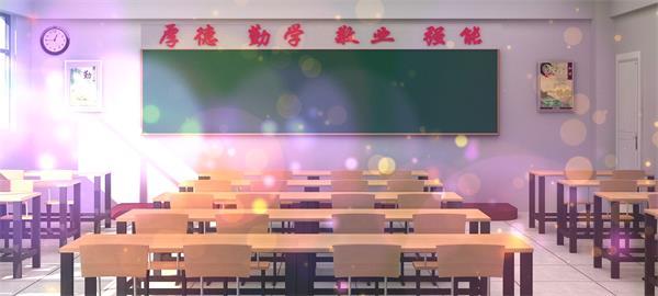 温馨回忆学生时代课堂教室粒子漂浮展示学习氛围教师节视频素材