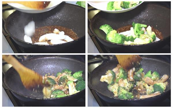 美味食物厨师烹饪新鲜蔬菜海鲜制作过程美食近镜头高清视频实拍