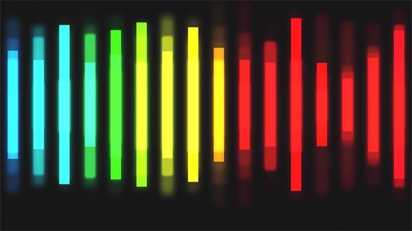 繽紛色彩音頻跳動變化波浪視覺效果音樂會LED屏幕背景視頻素材