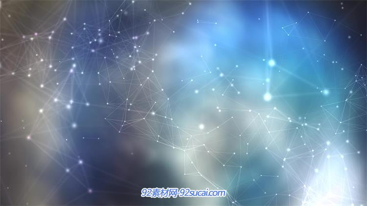 [4k]梦幻科技背景点线相互连接运动科幻循环视觉屏幕视频素材