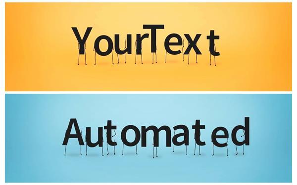 AE模板 可爱卡通字母人走动拼接组合渲染标题动画片头模板 AE素材