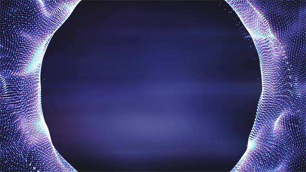 [4K]魔幻色彩粒子网格圆形隧道摆动循环运动视觉背景舞台视频素材