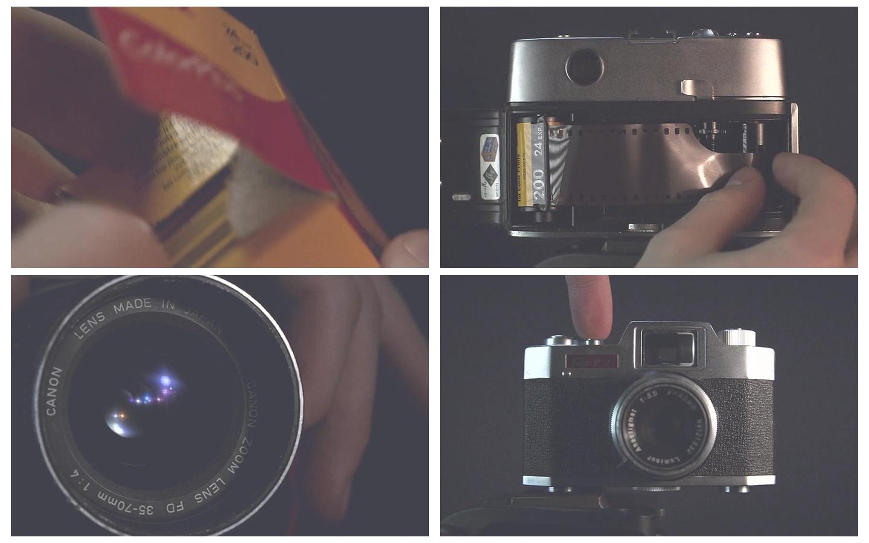 专业摄像相机胶带卷冲洗洗印底片照片技术镜头高清视频实拍