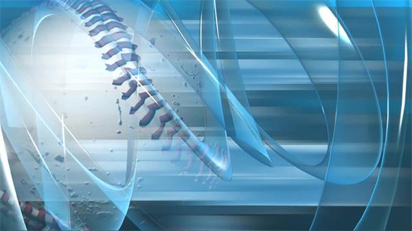 创意棒球转动体育运动电视栏目宣传开场屏幕LED背景视频素材