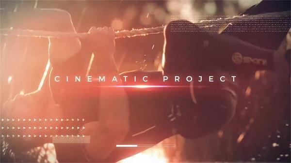AE模板 酷炫动感创意闪光效果渲染体育运动电影宣传片模版 AE素材