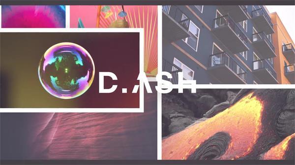 AE模板 创意个性快速滑动切换图文过渡场景照片动画幻灯片模版 AE