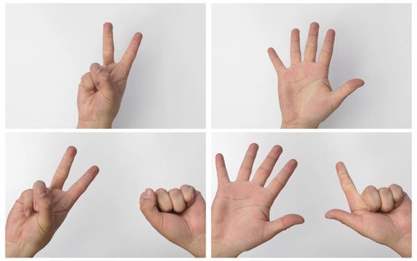 简洁背景单手双手手指数数字动态人物生活镜头高清视频实拍