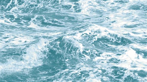 唯美清澈海浪海水后浪推前浪溅出水花慢动作镜头高清视频实拍