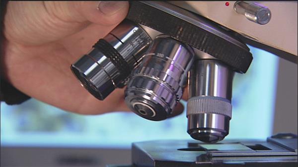 实验室科学科技生物显微镜研究仪器设备镜头特写高清视频实拍